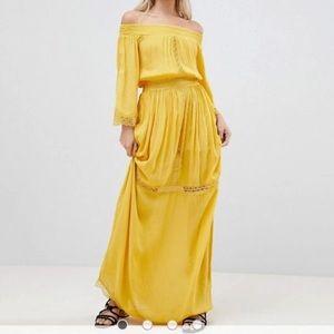 NWT ASOS Boohoo Off the Shoulder Maxi Dress